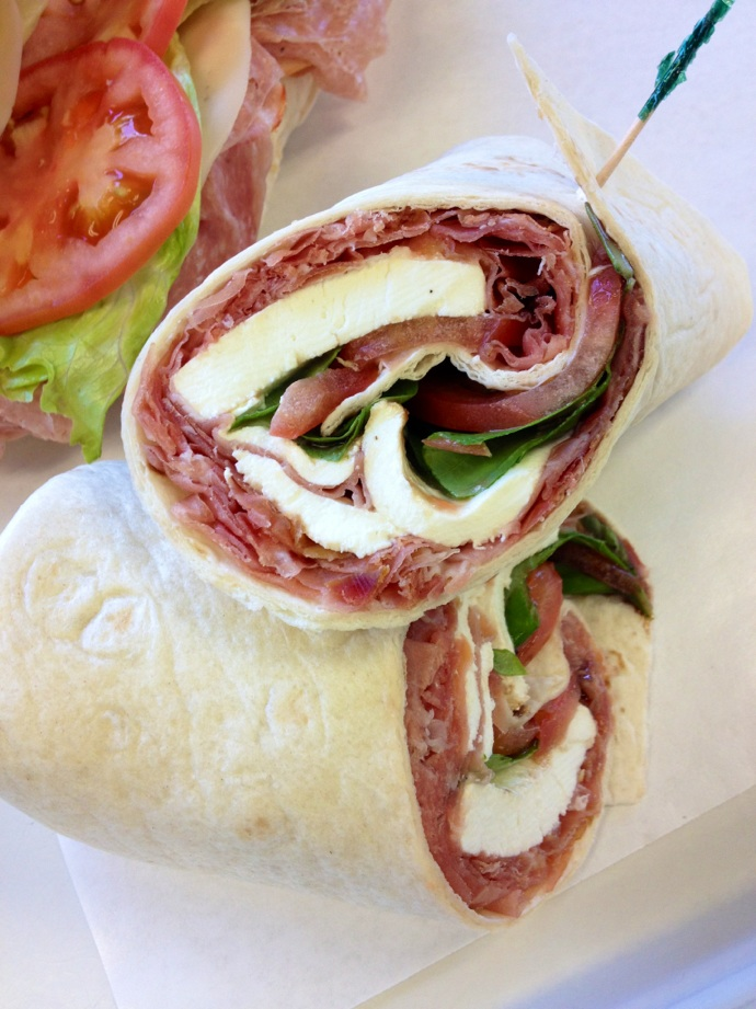 deli lunch wraps